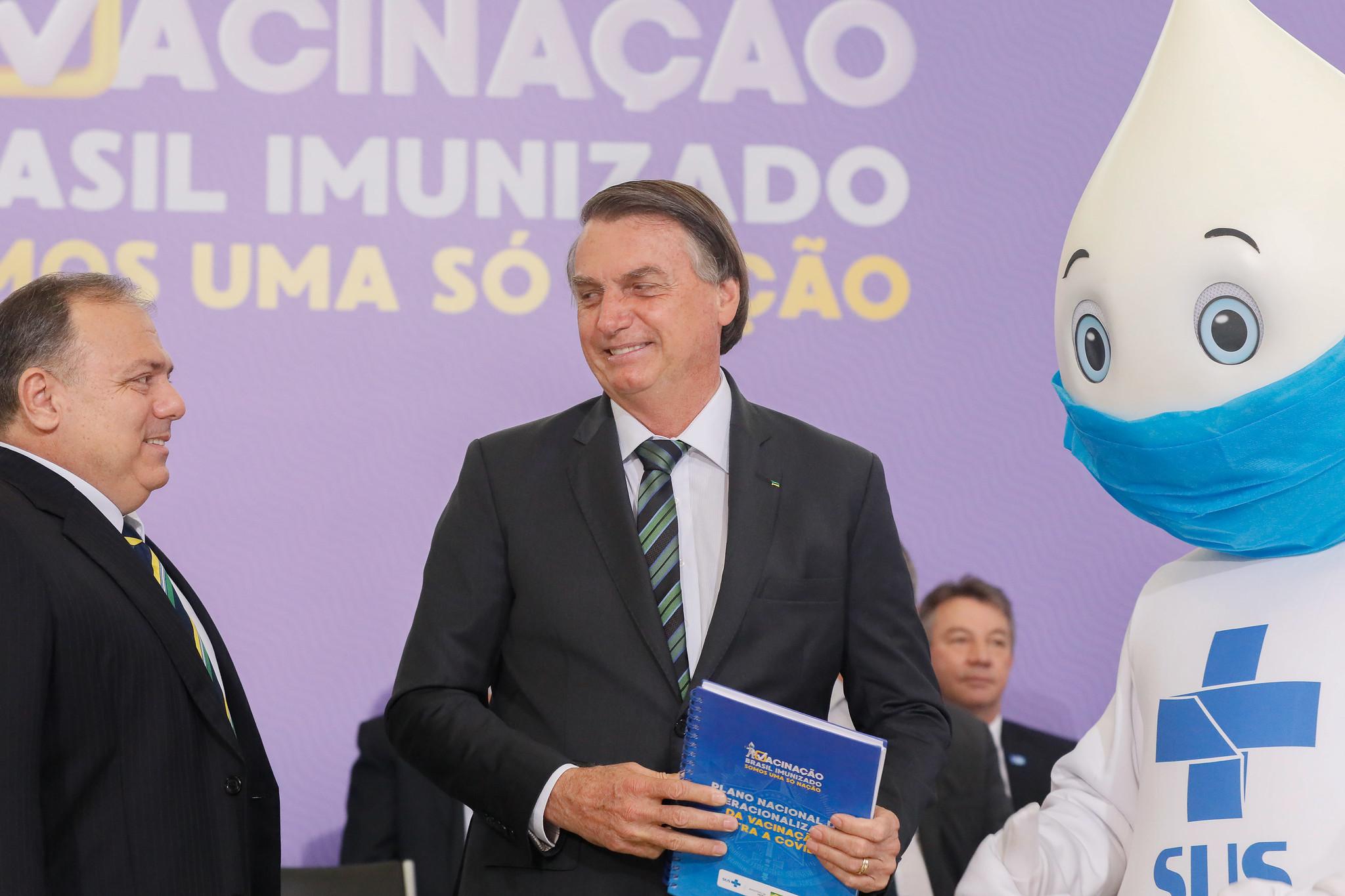 Lançamento do Plano Nacional de Operacionalização da Vacinação Contra a Covid-19. Foto: Isac Nóbrega/PR