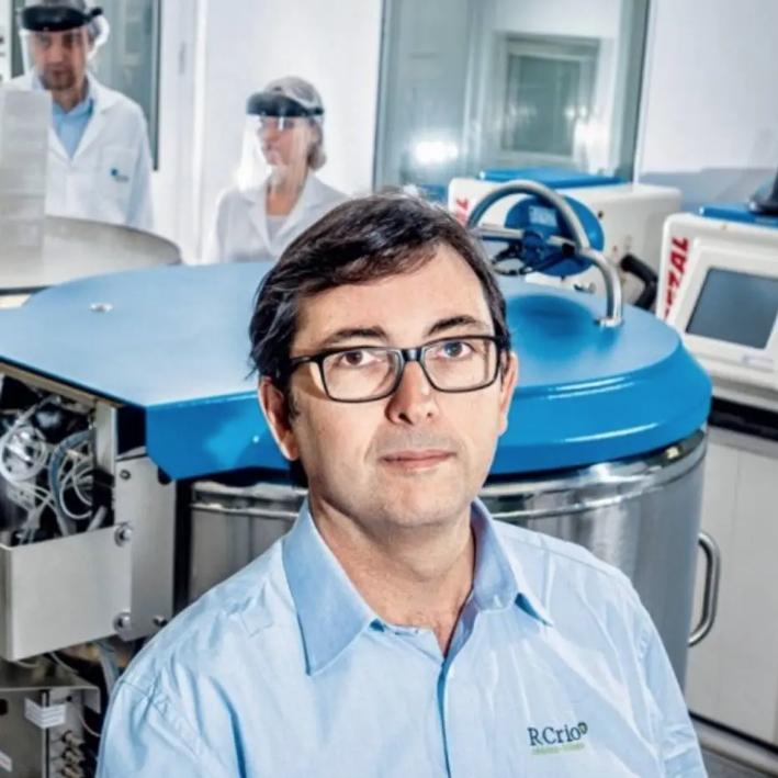 Pesquisador José Ricardo Muniz Ferreira, fundador do Centro de Processamento Celular R-Crio Criogenia e membro da International Society for Cellular Therapy (ISCT). Foto: Arquivo pessoal