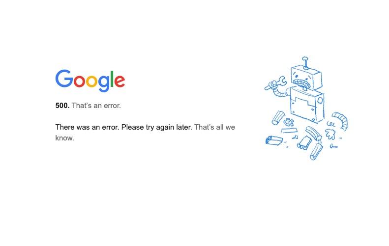 Gmail, YouTube e outros serviços do Google estão fora do ar nesta segunda. Foto: Reprodução