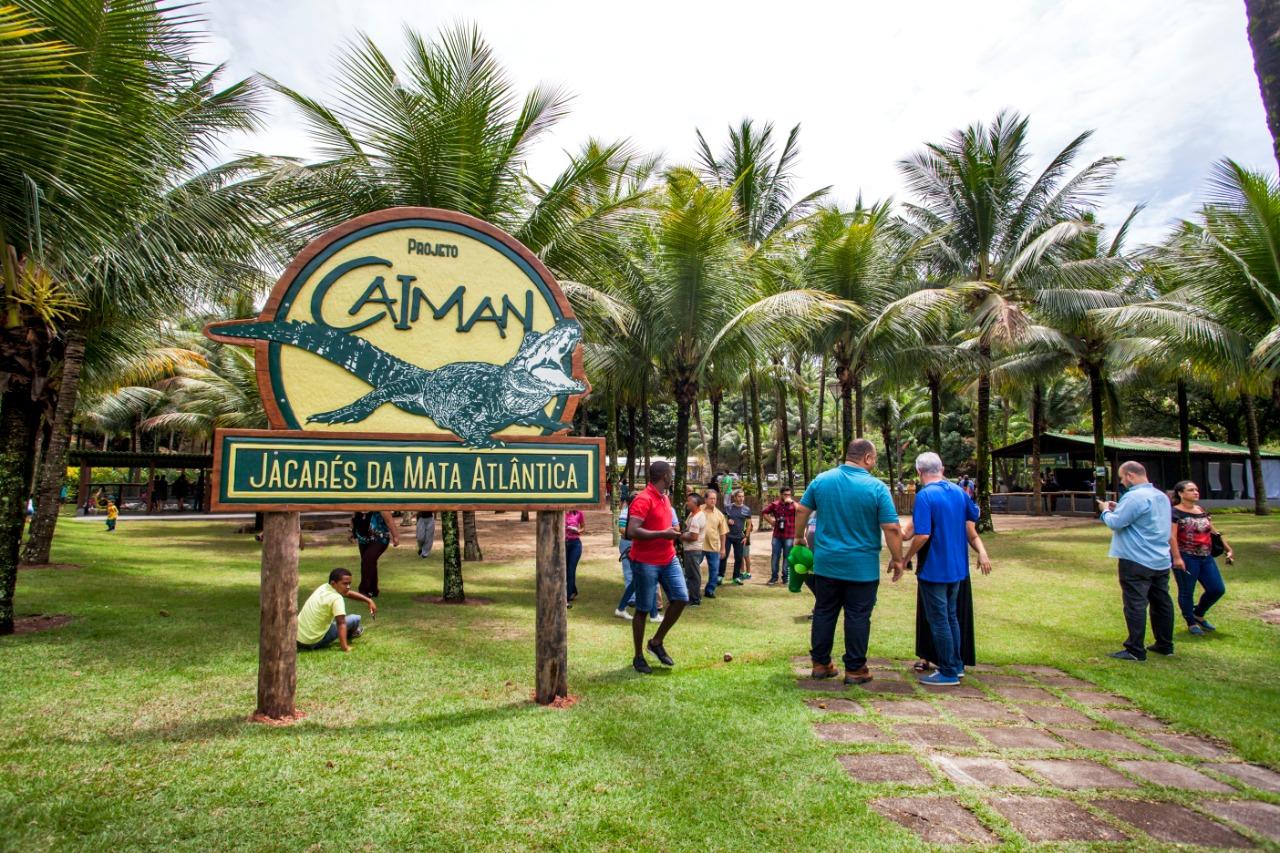Centro Ecológico Projeto Caiman, polo de Educação Ambiental, turismo e lazer na cidade de Vitória/ES. Foto: Leonardo Merçon/Projeto Caiman