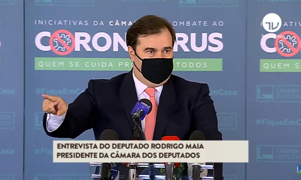 Presidente da Câmara, Rodrigo Maia (DEM-RJ). Foto: Reprodução / TV Câmara)