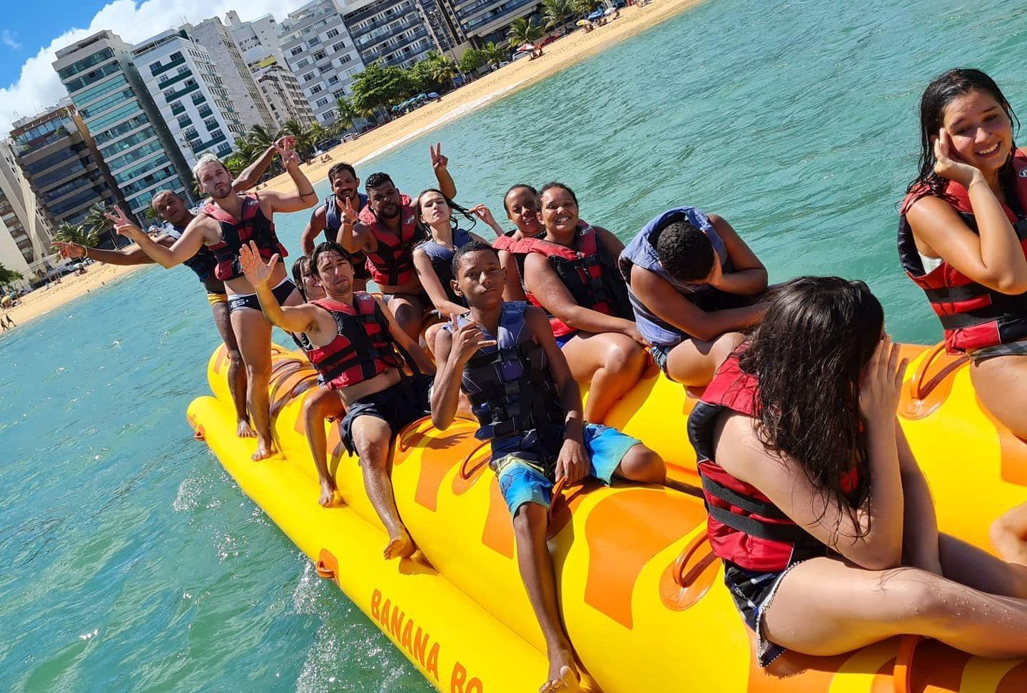 Banana Boat do Fred, na Praia da Costa, em Vila Velha. Foto: Reprodução/Facebook