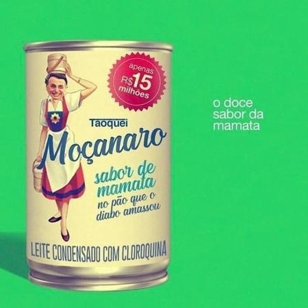 """Meme dos gastos do governo com leite condensado criou o """"Moçanaro"""". (Reprodução: Twitter)"""