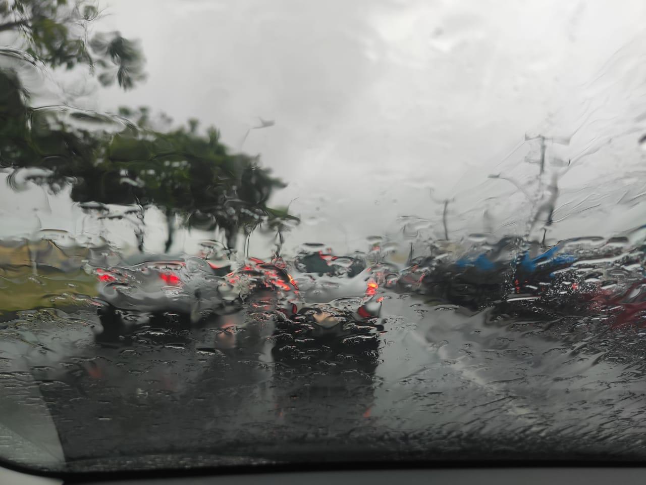 Chuva forte na Serra. Foto: Danielli Saquetto