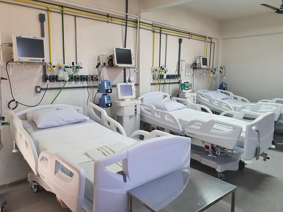 Leitos de UTI no Hospital Estadual de Vila Velha (HESVV). Foto: Hélio Filho/Secom