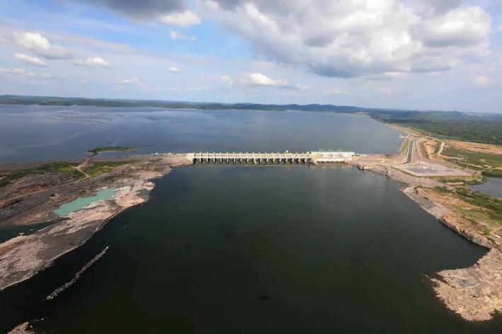 Reservatório da usina hidrelétrica de Belo Monte, no Pará. Foto: Marcos Corrêa/PR