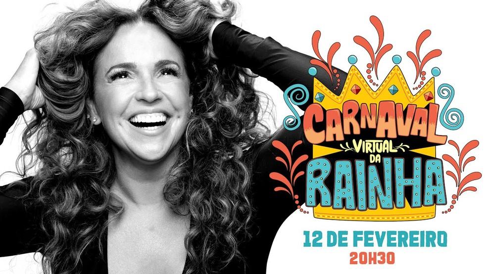 Daniela Mercury fará live de Carnaval — (Foto: Reprodução/YouTube)