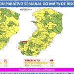 47º Mapa de Risco Covid-19. Foto: Divulgação