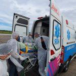 Pacientes transferidos de Santa Catarina chegam ao ES. Foto: Wing Costa/Secom